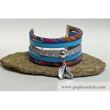 Bracelet Manchette Liberty Cordon Liberty Multicolore