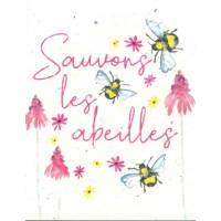 Carte à planter Hannah Marchant Sauvons les Abeilles, Fleurs des champs