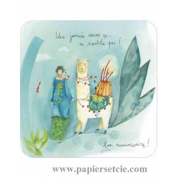 """Carte Anne-Sophie Rutsaert """"Une journée comme ça, ne s'oublie pas"""" Bon Anniversaire!"""