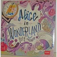Calendrier 2019 LEGAMI 18x18 cm Alice in Wonderland