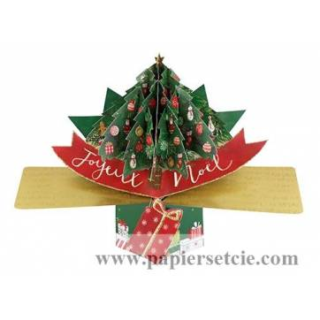 """Carte Pop Up de Voeux """"Joyeux Noël Le Sapin"""""""