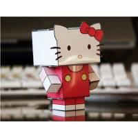 """Jouet éducatif en Papier Jeu de Papier """"Hello Kitty"""" à découper et monter soi-même"""