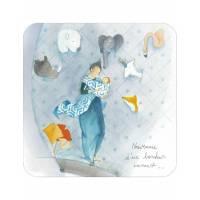 """Carte Anne-Sophie Rutsaert """"Naissance d'un Bonheur immense"""""""