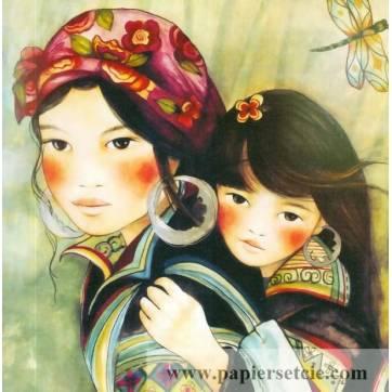 Carte Gwenaëlle Trolez Claudia Tremblay Mère et Fille H Mong