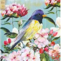 Carte d'art Gwenaëlle Trolez Sophie Addé Oiseau jaune
