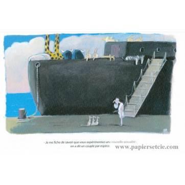 Carte humoristique Olivier Tallec L'Arche de Noë