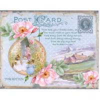 Carte artisanale Vintage Beatrix Potter Tom Kitten