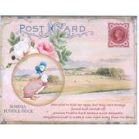 Carte artisanale Vintage Beatrix Potter Jemima Puddle Duck