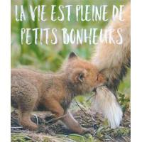"Carte Petit Renard ""La Vie est pleine de petits bonheurs"""