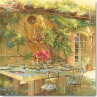 Carte Johan Messely Terrasse fleurie