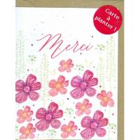 Carte à planter Hannah Marchant Merci Fleurs roses, graines Feurs des champs