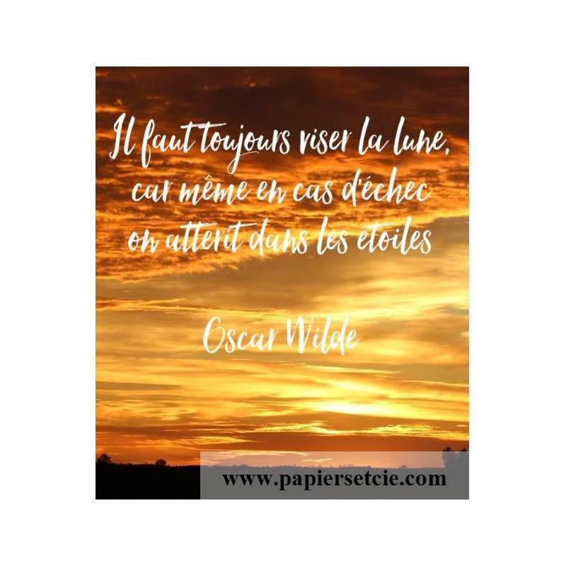 Carte Citation Humour Il Faut Toujours Viser La Lune Car